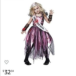 Zombie prom queen girls costume small 6-8